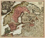 Correspondencia antigua del escandinavo Foto de archivo libre de regalías