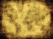 Correspondencia antigua del mundo stock de ilustración