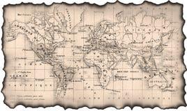 Correspondencia antigua del mundo Imagen de archivo libre de regalías