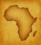 Correspondencia de África Fotos de archivo libres de regalías
