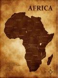 Correspondencia de África Foto de archivo