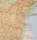 Correspondencia de Bahía, el Brasil - 3 Fotografía de archivo