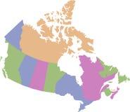 Mapa de Canad Imagen de archivo libre de regalías