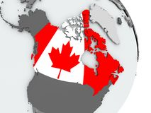 Correspondencia de Canadá con el indicador Foto de archivo libre de regalías