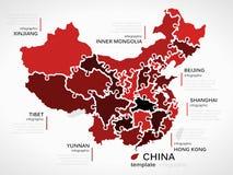 Correspondencia de China stock de ilustración