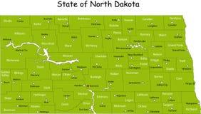 Correspondencia de Dakota del Norte Fotos de archivo libres de regalías
