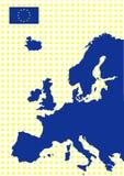 Correspondencia de Europa con el indicador de la unión europea Imagen de archivo