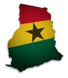 Correspondencia de Ghana Foto de archivo libre de regalías