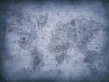 Correspondencia de Grunge del mundo stock de ilustración