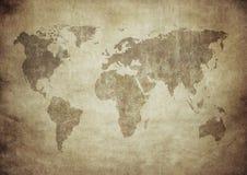 Correspondencia de Grunge del mundo Imagen de archivo libre de regalías