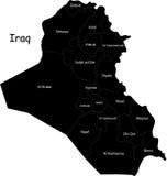 Correspondencia de Iraq del vector Imágenes de archivo libres de regalías