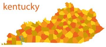 Correspondencia de Kentucky, los E.E.U.U. ilustración del vector
