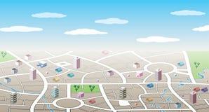 correspondencia de la ciudad 3d Imagen de archivo