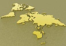 Correspondencia de la descripción del mundo Imágenes de archivo libres de regalías