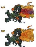 Correspondencia de la unión europea Foto de archivo libre de regalías