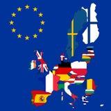Correspondencia de la unión europea stock de ilustración