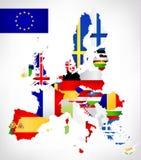Correspondencia de la unión europea con los indicadores Imagen de archivo libre de regalías