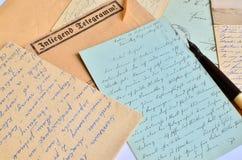 Correspondencia de la vendimia imagenes de archivo