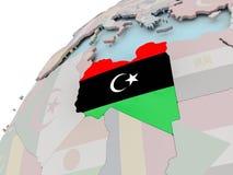 Correspondencia de Libia con el indicador Imagen de archivo libre de regalías