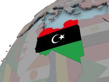 Correspondencia de Libia con el indicador Fotografía de archivo libre de regalías