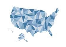 Correspondencia de los E Ilustración aislada del vector Estados Unidos de Ameri Imagenes de archivo