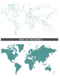 Correspondencia de mundo Imagenes de archivo