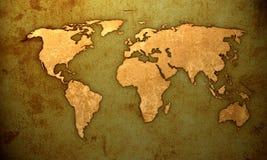 Correspondencia de mundo Fotos de archivo libres de regalías