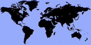 Correspondencia de mundo Imagen de archivo libre de regalías