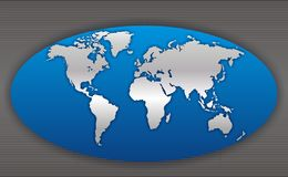 Correspondencia de mundo 4 Fotos de archivo libres de regalías