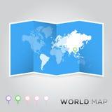 Correspondencia de mundo Imágenes de archivo libres de regalías