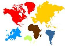 Mapa del mundo libre illustration