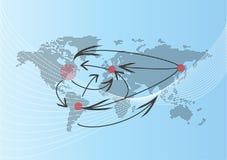 Correspondencia de mundo stock de ilustración