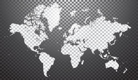Mapa del mundo abstracto ilustración del vector