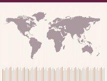 Correspondencia de mundo abstracta ilustración del vector