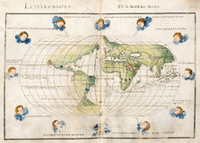 Correspondencia de mundo antigua stock de ilustración