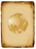 Correspondencia de mundo antigua, globo, fondo del grunge Fotografía de archivo