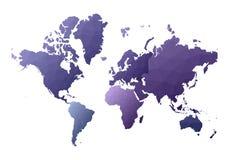Correspondencia de mundo apelar continentes polivinílicos bajos del estilo stock de ilustración