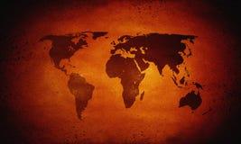 Correspondencia de mundo caliente, calentamiento del planeta Imagenes de archivo
