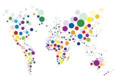 Correspondencia de mundo colorida Imagen de archivo libre de regalías