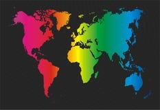 Correspondencia de mundo colorida ilustración del vector