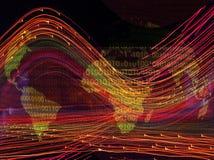 Correspondencia de mundo con código binario Fotografía de archivo libre de regalías