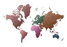 Correspondencia de mundo continentes polivin?licos bajos admirables del estilo stock de ilustración
