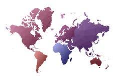 Correspondencia de mundo continentes polivin?licos bajos art?sticos del estilo libre illustration