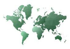 Correspondencia de mundo continentes polivinílicos bajos atractivos del estilo stock de ilustración