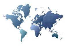 Correspondencia de mundo continentes polivinílicos bajos atractivos del estilo ilustración del vector