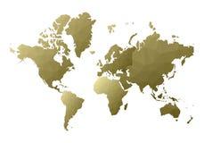 Correspondencia de mundo continentes polivinílicos bajos con clase del estilo ilustración del vector