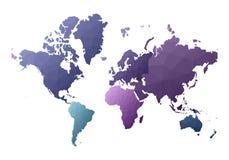 Correspondencia de mundo continentes polivinílicos bajos creativos del estilo stock de ilustración