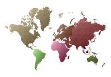 Correspondencia de mundo continentes polivinílicos bajos del estilo del deslumbramiento libre illustration