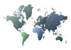 Correspondencia de mundo continentes polivinílicos bajos deliciosos del estilo stock de ilustración