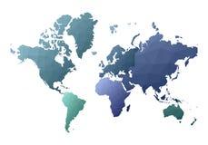 Correspondencia de mundo continentes polivinílicos bajos divinos del estilo libre illustration